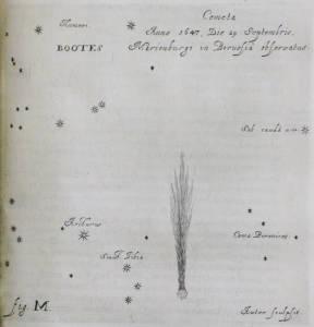 Hevelius,Cometographia, Fig M