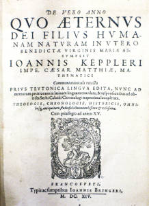 Kepler,De vero Anno,title page.