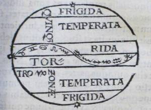 Depicting the five zones and the ecliptic
